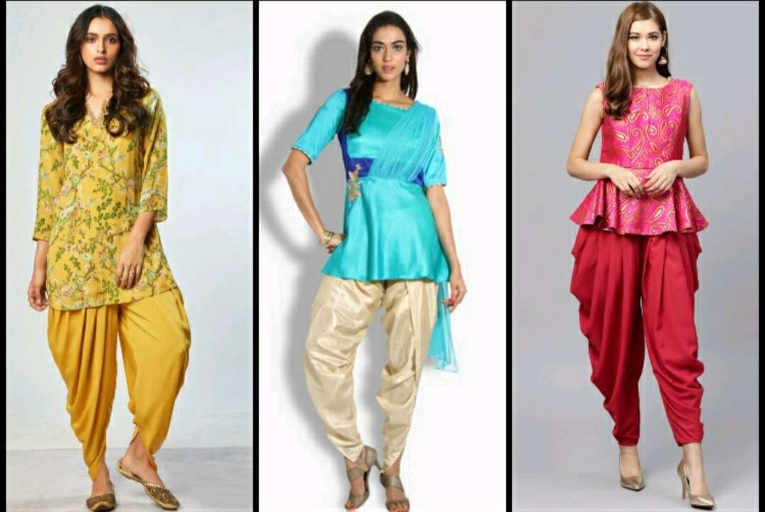 different types of Bottom Wears for Kurtis