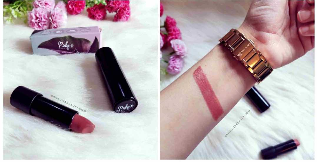 Ruby's Organics lipstick Review & Swatches- Bare