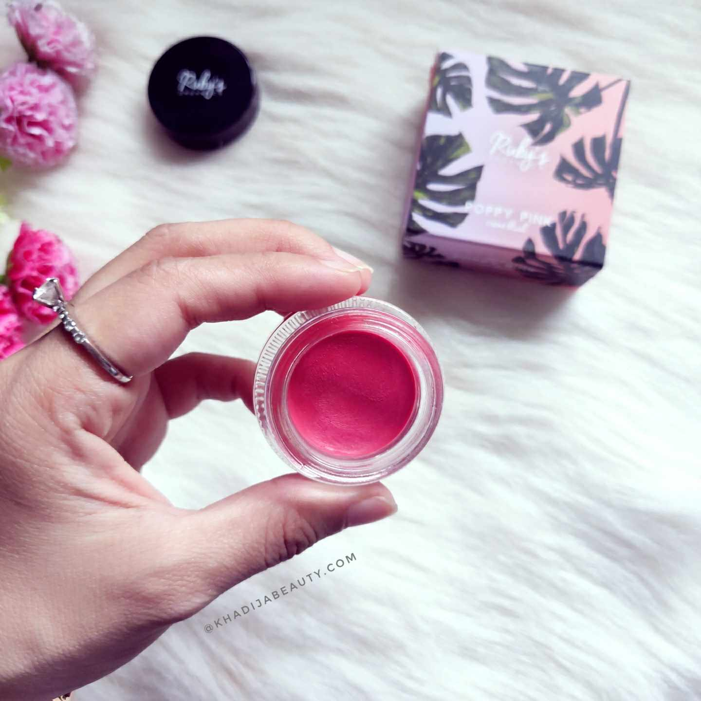 rubys organics cream blush review-poppy pink