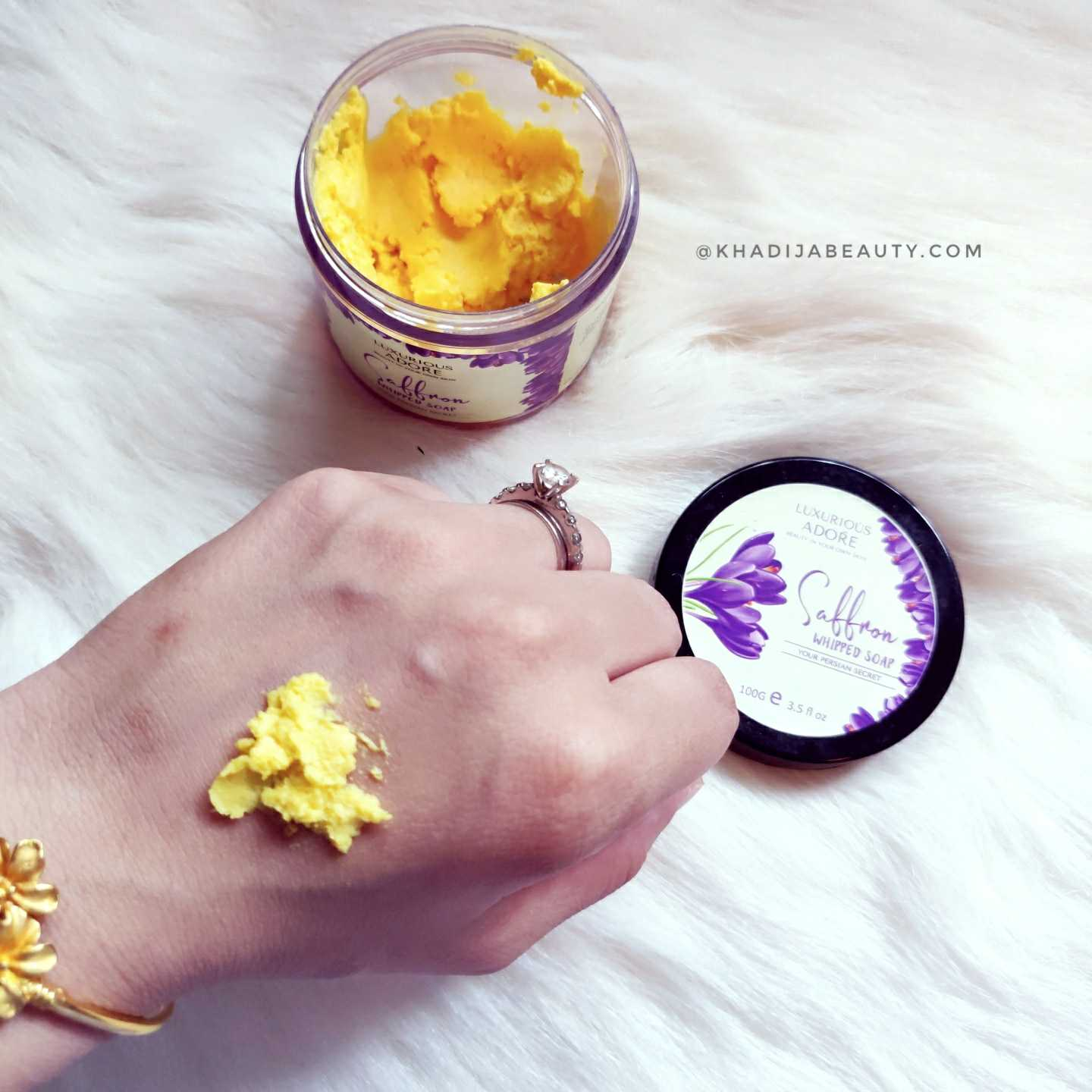 Luxurious adore Saffron whipped soap review