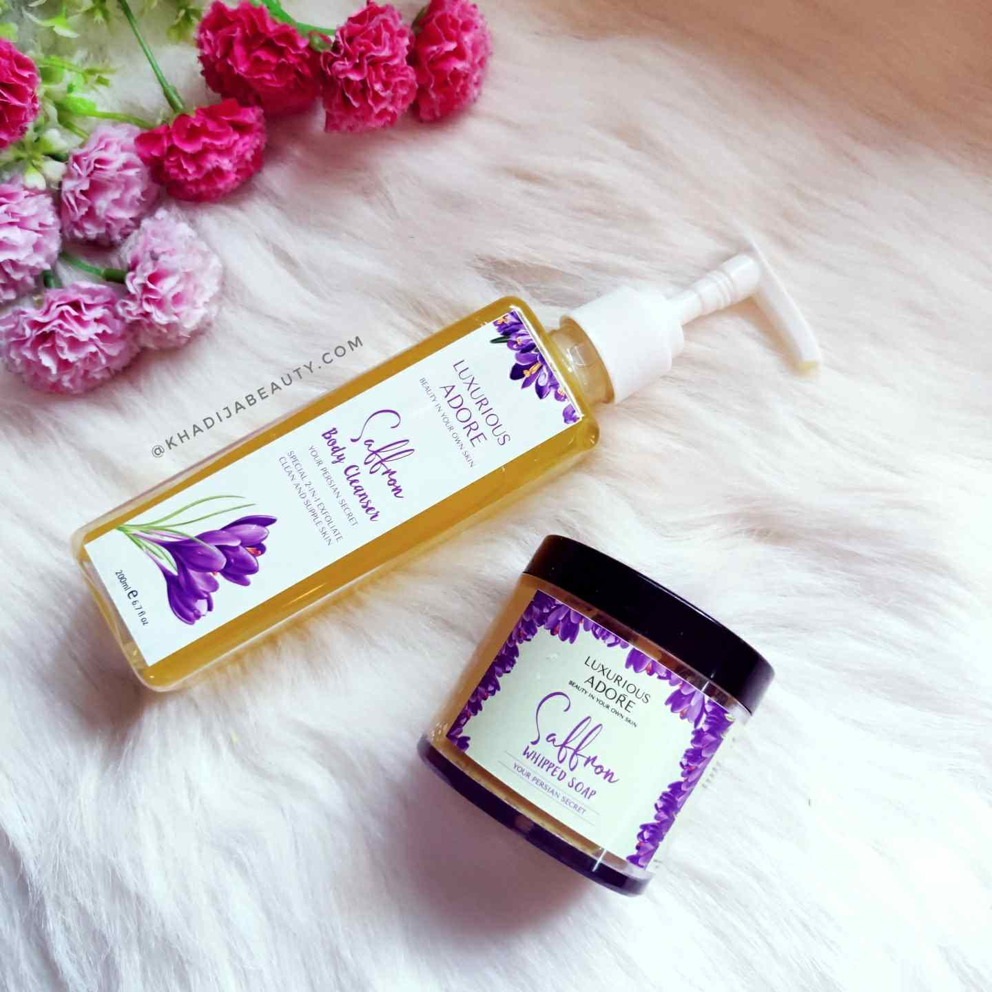 Luxurious adore Saffron whipped soap and body washreview