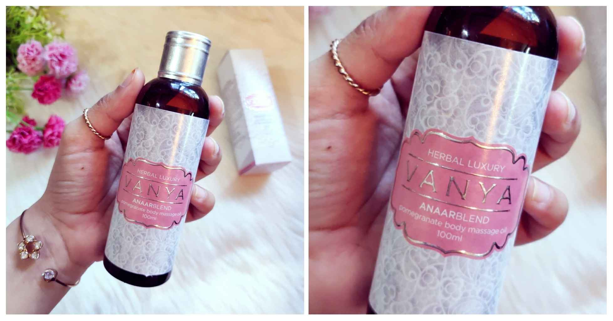 Vanya Anaarblend pomegranate body massage oil review