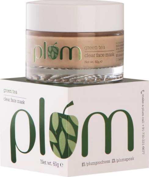 plum green tea face mask