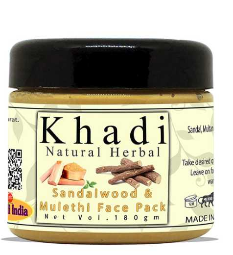 5.Khadi Natural Herbal Sandalwood and Mulethi Face Pack Mask