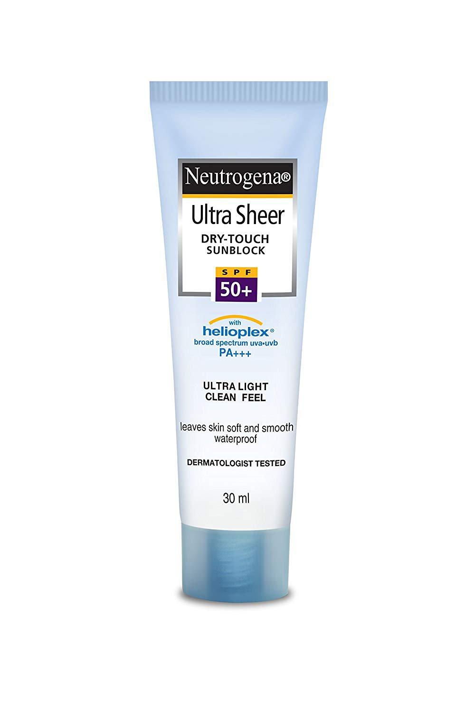 Neutrogena UltraSheer Dry-Touch Sunblock SPF 50+ (Price – Rs. 412)