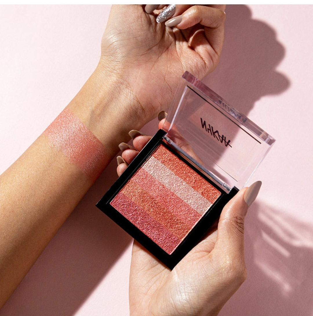 Nykaa Glow Goals! Shimmer Brick Highlighter Palette