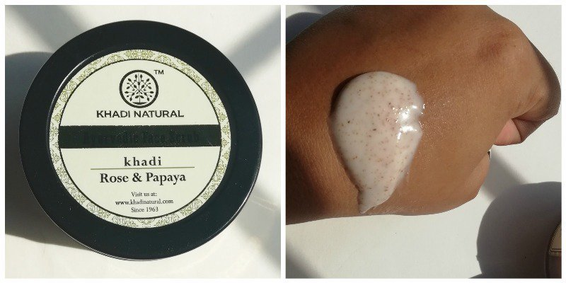 Khadi Rose & Papaya Face Scrub (Price – Rs. 125)