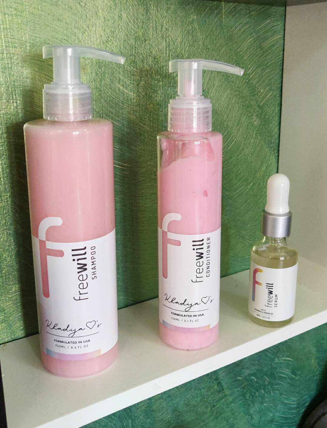 Freewill hair care kit review, frewwill shampoo conditioner