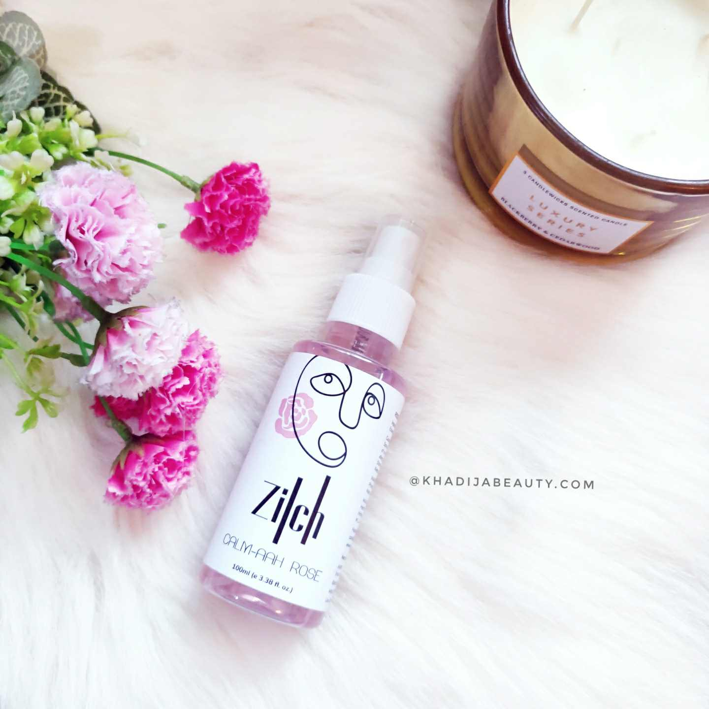Zilch calm-aah rose hydrating face mist