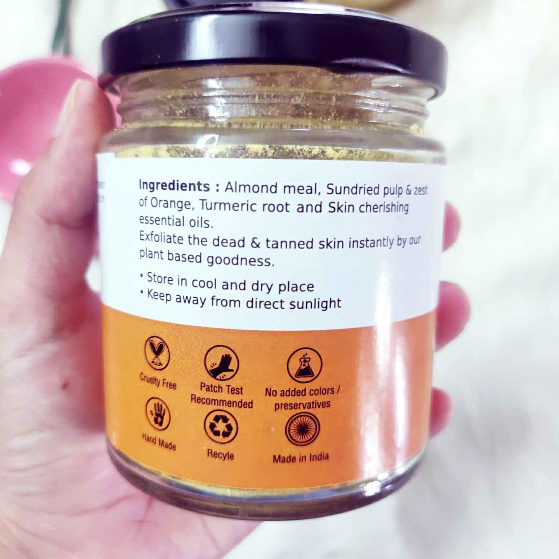 Deyga orange and almond face pack ingredients