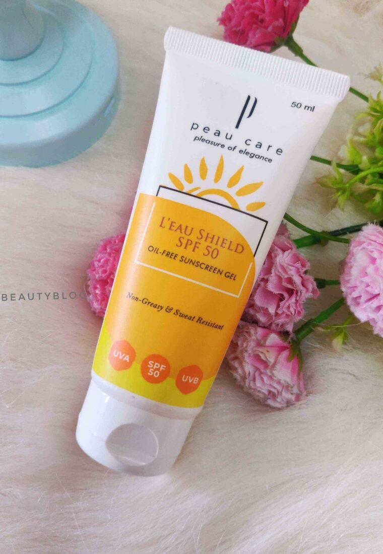 Peau Care L'eau Shield Sunscreen Review| SPF 50