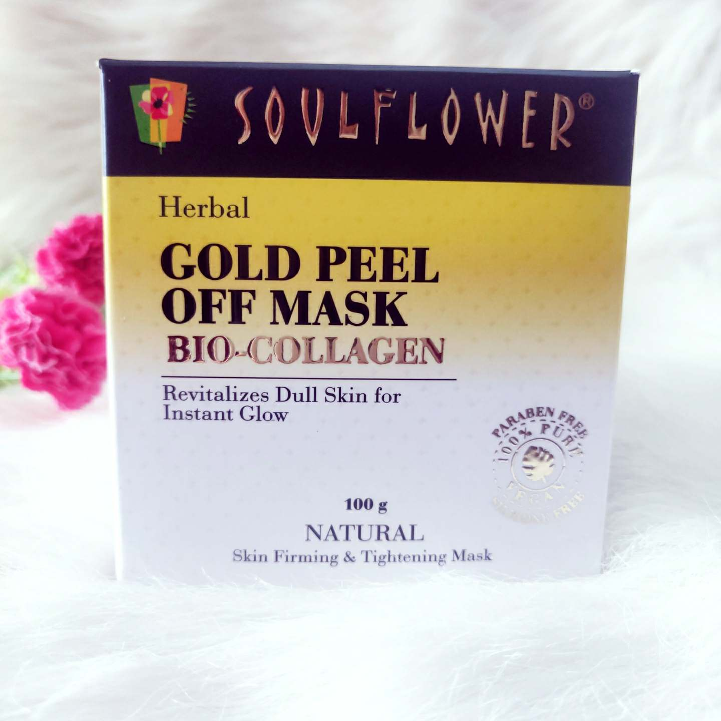 SOULFLOWER BIO COLLAGEN GOLD PEEL-OFF MASK REVIEW