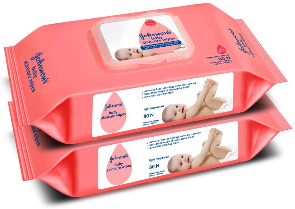 Johnson's Baby Wipes (Price - Rs. 395.60 for Pack of 2)