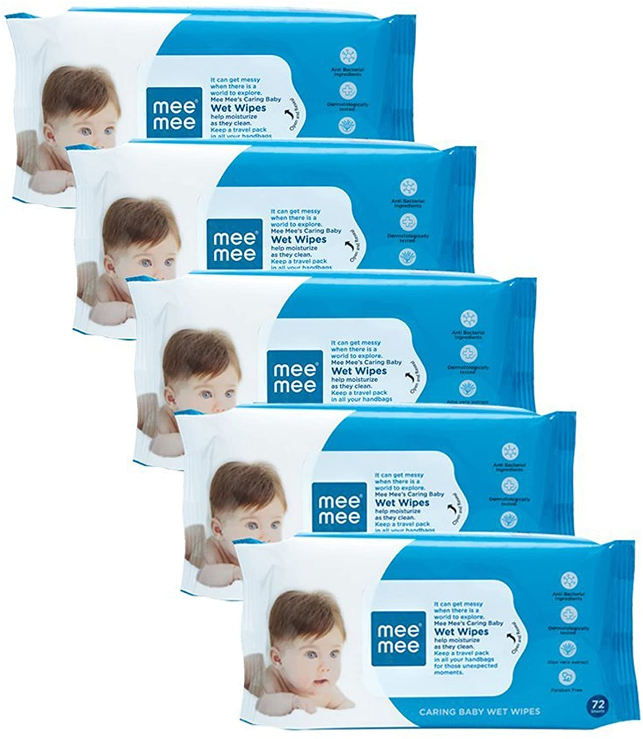 Mee Mee Baby Gentle Baby Wipes (Price - Rs. 200 for 72 pieces)