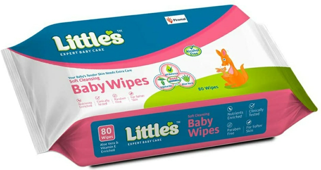 Little's Soft Cleansing Baby Wipes (Price - Rs. 180 for 80 Sheets)