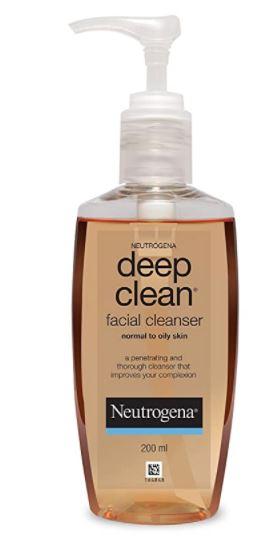 Neutrogena Deep Clean Facial Cleanser (Price - Rs. 130) -